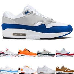 nike air max 1 2019 New Fashion 1 Herren Damen Laufschuhe Jubiläum Royal Patch Atomic Teal Parra Puerto Rico 87 Herren Sport Sneakers des chaussures