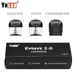 Original Yocan Evolve 2.0 Capsules de rechange Cartouches vides Cartouches épaisses pour huile Capsules de cire d'Ejuice 4pcs par paquet E Capsules de vaporisateur de cigarette ? partir de fabricateur