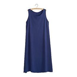 2019 maxi vestidos de mudança Mulheres Básico Tank Dress Shift Simples Praia Maxi Vestido Sleepwear (Fit for XS-M) desconto maxi vestidos de mudança