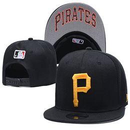 p cappuccio snapback Sconti Molti cappelli da baseball pirati con cappellino da baseball in arrivo Cappelli da baseball con logo P ricamato Pittsburgh Casquette hip-hop regolabile