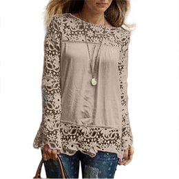 4d9b6f643 newest trendy women blouses o-neck plus size women summer tops high quality  blusas mujer hot sale blusa feminino lace top  5