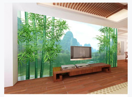 landscape photo painting hd Coupons - 3D Custom wall papers home decor photo wallpaper Huge HD Original Bamboo Forest Guilin Landscape Painting Living Room TV Background Mural