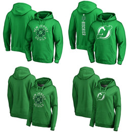 dac165abe Discount hoodies men grey - New Jersey Devils Green St. Patrick's Day Luck  Tradition Pullover