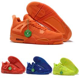 2019 scarpe da basket di jumpman 4s basketball kint retro giallo arancio blu rosso fly jumpman 4 scarpe michael aj per uomo taglia 40-46 scarpe da basket di jumpman economici