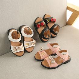 Été Enfants Chaussures Fond Doux Antidérapant Enfants Pour Les Filles Princesse Arc Toe Sandales De La Mode Bébé Kitty Racine Sandales ? partir de fabricateur