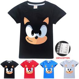 niños camisetas de invierno Rebajas Sonic The Hedgehog Impreso camisetas para niños 4 colores 3-12t niños niñas 100% Algodón Camisetas camiseta niños diseñador ropa SS311