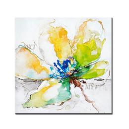 2019 abstrakte hände kunst gemälde Abstrakte grüne Blumen-Kunst-handgemachte Segeltuch-Blumen-Ölgemälde-abstrakte handgemalte Kunst-Ölgemälde-Wand-Bilder für Haus günstig abstrakte hände kunst gemälde
