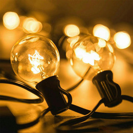 Chaîne d'ampoule d'extérieur en Ligne-Patio Lumières G40 Party Globe de Noël Guirlande, blanc chaud Ampoules 25Clear Vintage 25ft, décoratif extérieur Backyard Garland