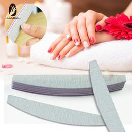 25Pcs pack Nail File Buffer 180 180 Grit 2 Side Washable Shaped Nail File  Professional Manicure Tool Sandpaper Half Moon Design
