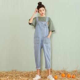 suspensórios denim para mulheres Desconto Mulheres roupas denim lavado tecido macacão de verão / outono macacões mulheres macacões suspensórios jeans macacão jeans