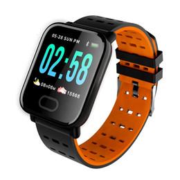 cor relógios inteligentes Desconto Academia Rastreador de oxigênio do sangue boold Pressão inteligente olha a cor da tela de toque impermeável com Heart Rate Monitor relógio inteligente