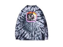 2019 Nuevo Travis Scott Astroworld Tour Sudaderas con capucha Hombre Mujeres Ardiente tren Barclays graffiti tie-dye mangas largas Sudaderas Sudadera con capucha desde fabricantes