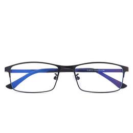 Óculos azul moldura para os homens on-line-Homens bussiness óculos de armação azul luz filtro computador óculos anti radiação óculos armações de óculos