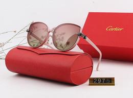 2019 lunettes cloutées Lunettes de soleil de concepteur Polarizerd pour les hommes en verre miroir gril lentille lunettes de soleil lunettes accessoires femmes avec boîte 2975 #