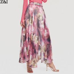 2009 Abiti da donna Gonna grossa a ruota ampia con gonna a palloncino Gonna s di seta a forma di fiore cheap women silk flowers da fiori di seta da donna fornitori