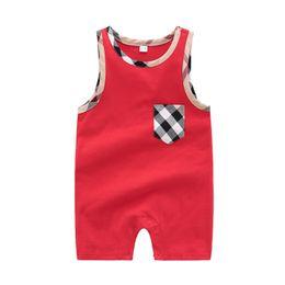 Meninos pijamas calções de algodão on-line-Verão bebé recém-nascido macacão de manga curta Vest Jumpsuit Romper Criança Nova nascido 0-24M 100% roupas de algodão Set Pijamas Conjuntos
