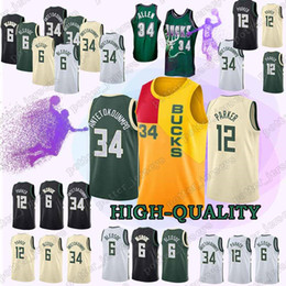 a32574005306 Chinese Giannis 34 Antetokounmpo jerseys Eric 6 Bledsoe Ray 34 Allen jersey  100% Stitched 2019