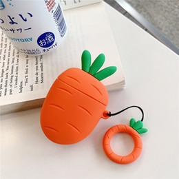 2019 морковь Mytoto 3D мультфильм кактус морковь растения наушники гарнитура аксессуары силиконовый чехол для Airpods Беспроводной Bluetooth гарнитура сумка скидка морковь