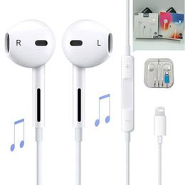 Наушники наушники проводной онлайн-В ухо наушники проводной Bluetooth наушники для Apple IPhone X XR XS Max 8 7 6 6 S плюс 6 5 5s наушники с микрофоном уха телефон
