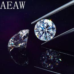 piedra redonda de diamante Rebajas Corte brillante redondo 1.5 quilate 7.5 mm D Color Moissanite Certificado de piedra suelta VS1 Excelente prueba de grado de corte Positivo Lab Diamond