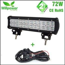 2019 12 volt led leuchtet autos IP67 wasserdichte LKW Traktor 4x4 Combo Strahl 12 Zoll Offroad-Auto 72W Led Light Bar 12 Volt rabatt 12 volt led leuchtet autos
