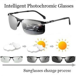 Sonnenbrille verfärbung online-Fahren photochrome Sonnenbrille Herrenmode polarisierte Chamäleon Verfärbung Sonnenbrille für Herren Oculos De Sol Masculino Intellige