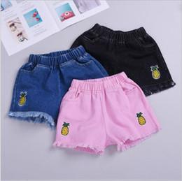 2019 mini jeans shorts meninas Calções de brim do bebê Hot new Meninas Verão Shorts Denim Crianças Meninas Curtas Crianças calças designer de crianças para a menina roupas calças curtas LXL86 mini jeans shorts meninas barato