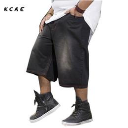 2019 большой высокий Мужские шорты плюс размер 30-46 100% хлопок мешковатые джинсовые шорты Мужчины Джинсы отдыха для больших и высоких мужчин Размер Jogger 46 дешево большой высокий