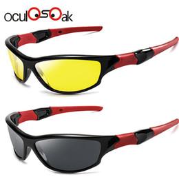 Hd солнцезащитные очки ночного видения онлайн-Oculosoak Солнцезащитные очки ночного видения Мужские очки Очки UV400 Солнцезащитные очки Желтые линзы HD Поляризованные очки ночного вождения 1036