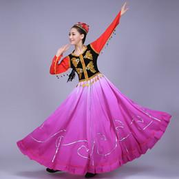 2019 balanços adultos Hot Folk Dance Costume Feminino Adulto Desempenho Minority Vestido de Dança de Abertura Grande Swing Saia Vestido Grande tamanho S-4XL desconto balanços adultos