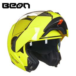 xl motocicleta capacetes dupla viseiras Desconto BEON Loja Oficial Modular Capacete Da Motocicleta Virar para Capacete Moto Casco Casco Motocicleta Capacete Capacetes Duplos Viseiras