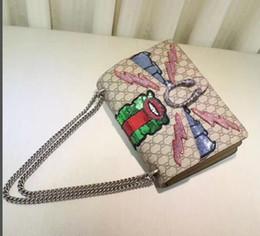 Top qualité 30 * 20 * 10.5cm femmes sac à bandoulière Casual mode paume en cuir totes à la main Floral coloré sacs à main 403348 ? partir de fabricateur