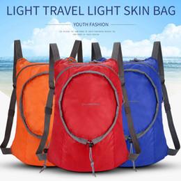 Borsa pieghevole ultraleggera online-Zaino pieghevole leggero Zaino pieghevole zaino impermeabile Ultralight Outdoor Pack per borsa da trekking da viaggio da donna per uomo ZZA459