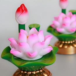 lotus lumière bouddha Promotion cadeaux d'artisanat LoveLED lampe de lotus coloré lampe Bouddha Changming batterie alimentation double usage lotus Everlasting Light