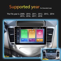 Chevrolet navegación con pantalla táctil online-IPS 2.5D 2GB Ram 32GB Rom 9 pulgadas Android 8.1 Reproductor de DVD de coche y radio multimedia para Chevrolet Cruze 2009-2013 2din gps navegación