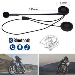 Headset schwämme online-Ultradünne motorradhelm wirless bluetooth headset moto bt kopfhörer helm lautsprecher mit schwamm mikrofon usb lade
