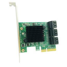 controladores sata Desconto Controlador / adaptador PCI Express / PCI-E / PCIE SATA 3 SATA3 PCI-E PCIE para SATA Placa de expansão 6 Portas SATA 3.0 6Gb