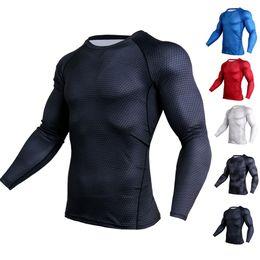 modèles de vêtements de sport Promotion Sports Modèle 3D T-shirts Hommes Porter La Compression Joggers De Remise En Forme Fitness Couche de Base T-shirts Vêtements