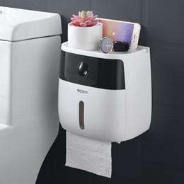 2019 бумажная коробка для хранения Lf82003 Творческий Пластиковый Держатель Для Ванны Настенный Ящик Для Хранения Бумаги Туалетной Бумаги Диспенсер SH190628 скидка бумажная коробка для хранения