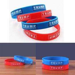 2019 bracciali bieber Presidente Donald Trump Elezione braccialetti di silicone 2020 Keep America Grandi Inspirational motivazionali Braccialetti per gli uomini i monili delle donne