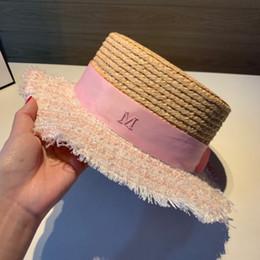 Grandi cappelli eleganti online-Cappello grande di paglia del cappello del cappello della signora del cappello del cappello della signora del cappello della cima della grinza del cappello della signora della grinza