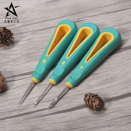 segeltuchschuhe löcher Rabatt Nähen Ahle Hand Stitcher Schuh Canvas Leder Repair Tool für DIY Handwerk Leder, gerade Nadel gebogene Nadel und Loch