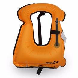 life gear Promo Codes - 1pc Mens Snorkeling Gear Swimwear Inflatable Adult Life Jackets Vest Swimwear free shipping