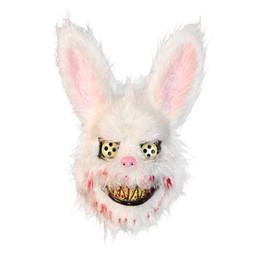 Adereços de páscoa on-line-Maus sangrento Coelho Máscara sangrenta Máscara Plush Halloween máscaras de horror do partido do disfarce Cosplay Masque Páscoa Props Máscara Tricky