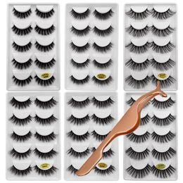 30 pares / lote vison pestanas cílios falsos natural granel macio 3d vison cílios cilio olho kits 6 pacotes de cílios para faux cils cheap bulk eyes de Fornecedores de olhos grandes
