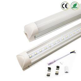 Lampe de lumière à tube led intégrée en Ligne-Integrated T8 LED Tube 4FT 22W SMD 2835 tubes Light Lamp 1.2M 85-265V Bulb led fluorescent lighting