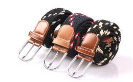 Argentina Nueva Correa de Lona Al Aire Libre Correa de Hebilla Grande Ocio Tejido de Moda Cinturones Color Mezclado Cinturón de Cintura Casual de Alta Calidad Suministro