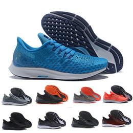 Sapatos de mulheres atléticas 35 on-line-Nike Air Zoom Pegasus 35 Turbo racer Homens Mulheres Sports Running Shoes Bred Originais Pegasus 35 athletic formadores de luxo tênis sapatos de grife 36-45