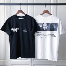 Usa kleidung online-18fw Luxus Unisex USA Mona Lisa 04 Hochwertige T-shirt Mode Hip Hop Männer Frauen Kleidung Baumwolle T-shirt Lässig T-stück