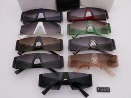 2019 óculos de sol de lente completa Luxo 4360 Sunglasses For Men Design de Moda Movimento Piloto Full Frame UV400 Lente de proteção UV Steampunk Verão Estilo Quadrado óculos de sol de lente completa barato
